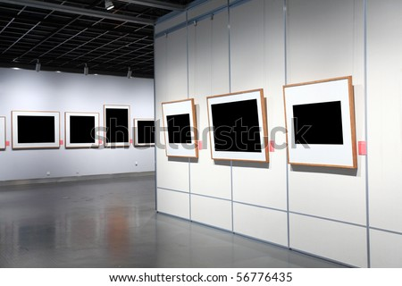 frames on white wall in art museum | EZ Canvas