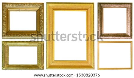 Frames paintings gold antique antiquity collection isolated museum