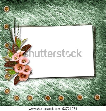 Framework for a photo or congratulation. Abstract vintage background.