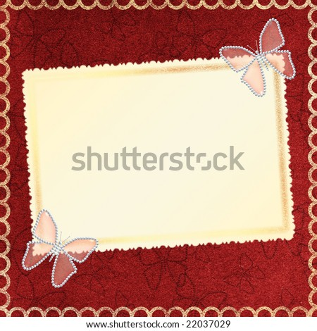 butterfly backgrounds for invitations. Framework for a photo or invitations