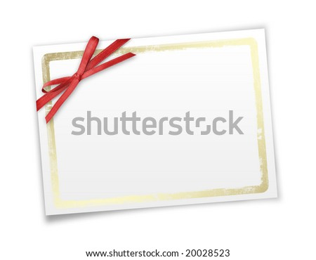 Framework for invitations. White isolated background.