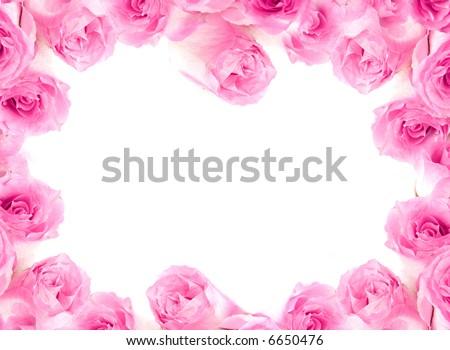 Framework from  roses. Isolation on white.