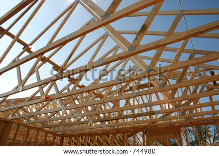 Framing of a new roof