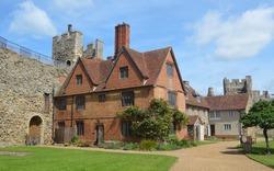 Framlingham castle poorhouse Suffolk England.