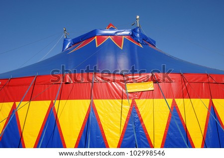 France, a colorful circus tent