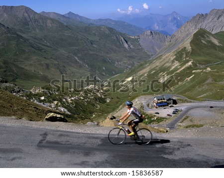 france alps provence view from the summit of the col du galibier france europe french european eu union travel images of france - stock photo