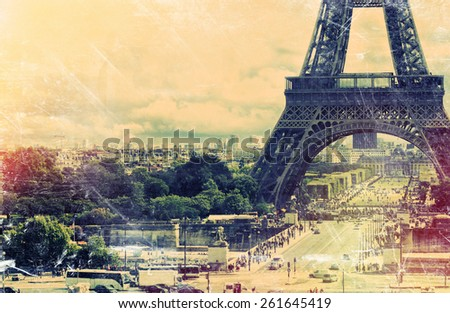 France background Eiffel tower