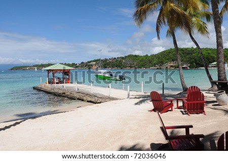 France, beach of Sainte Anne in Guadeloupe