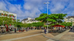 France Brittany town of Lorient center Downtown Place Jules Ferry