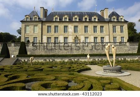 France, castle of Auvers sur Oise - stock photo