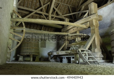 France, castle of  Talcy, old wine press