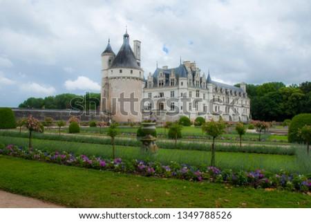 france chenonceaux chateau #1349788526