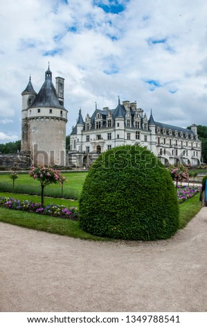 france chenonceaux chateau #1349788541