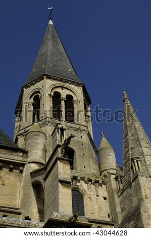 France, church of Poissy, gothic architecture