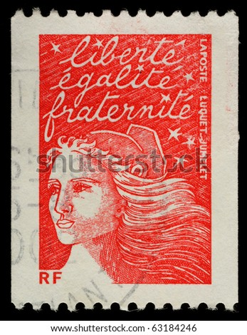 FRANCE - CIRCA 2002: A French Used Postage Stamp, circa 2002