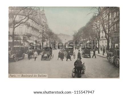 france   circa 1905  a postcard ...