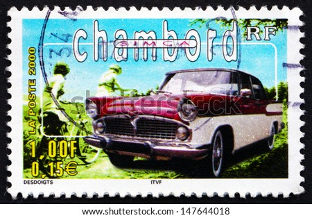 FRANCE - CIRCA 2000: a stamp printed in the France shows Simca Chambord, Automobile, circa 2000