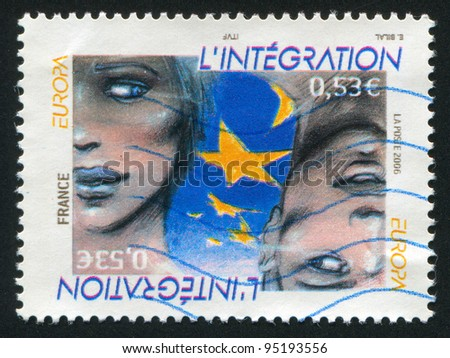 FRANCE - CIRCA 2006: stamp printed by France, shows faces, circa 2006