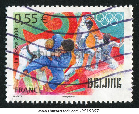 FRANCE - CIRCA 2008: stamp printed by France, shows Olympic games Beijing 2008, circa 2008