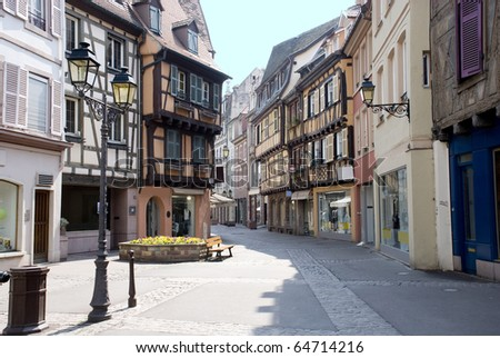 France, Colmar, medieval city in the centre of Europe