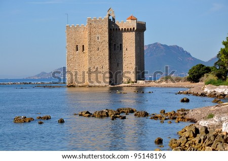 France, French riviera, Lerins islands,fortress monastery