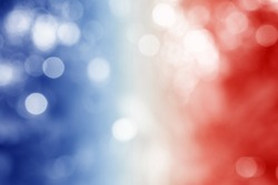 FRANCE : National flag. Soft blurred bokeh natural background. Abstract gradient desktop wallpaper.