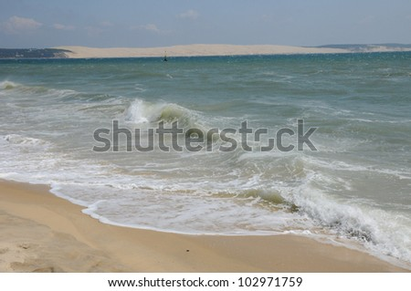 France, the beach of Cap Ferret