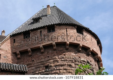 France, the chateau du Haut Koenigsbourg in Alsace