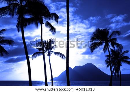France, the coast of Le Diamant in Martinique