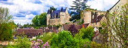 France tourism and travel. Beautiful castles and medieval villages of Loire valley - chateau de Montresor .