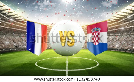 france vs croatia. soccer...