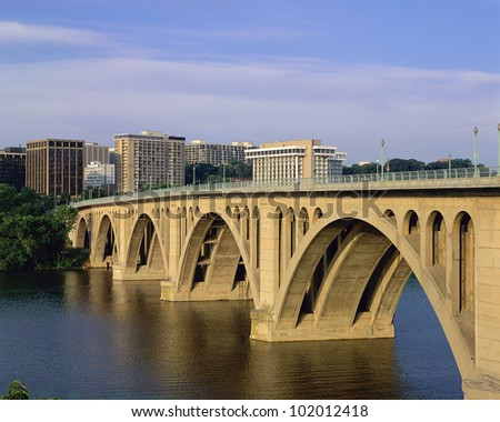 Francis Scott Key Bridge in daylight