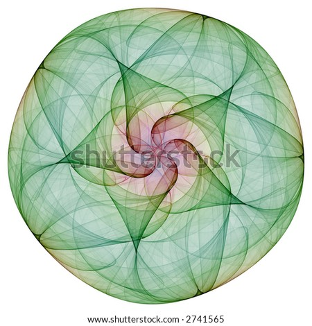 Frangible fractal violet flower as mandala - stock photo