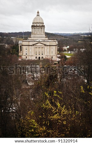 Frankfort, Kentucky - entrance to State Capitol Building