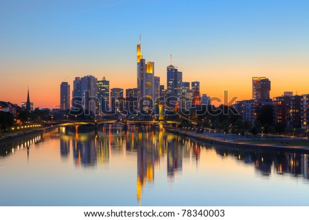 Frankfurt am Main at dusk