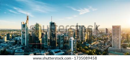 Frankfurt am Main Skyline during spring