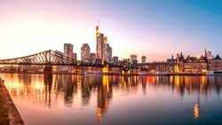 Frankfurt am Main, Skyline, Eiserner Steg