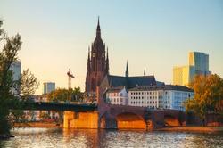Frankfurt Cathedral in Frankfurt am Main at sunset