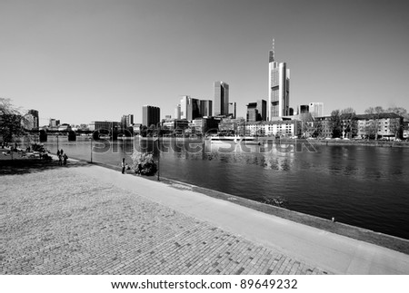Frankfurt city financial center cityscape
