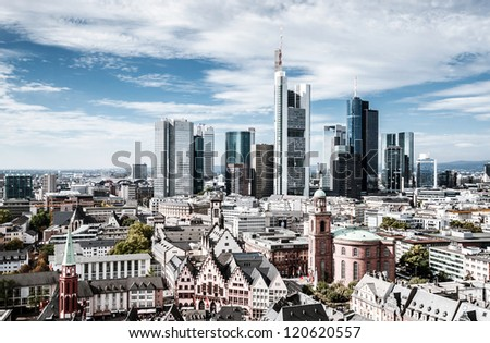 Frankfurt European financial capital skyline