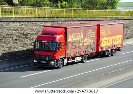 FRANKFURT,GERMANY-APRIL 24:MAN truck of MAX on April 24,2015 in Frankfurt,Germany