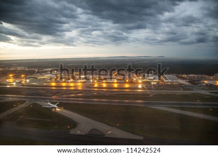FRANKFURT, GERMANY - SEPTEMBER 26:  Airport Frankfurt in the morning on September 26, 2012 in Frankfurt, Germany. The airport is closed from 11 pm to 5 am due to the night flight Ban from April 2012.