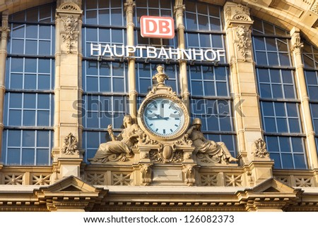 FRANKFURT - OCTOBER 22: Frankfurt Hauptbahnhof (Central Station) on October 22, 2011, in Frankfurt. In terms of traffic, it is the busiest train station in Germany serving 350,000 passengers daily.