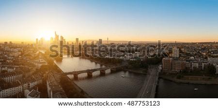Frankfurt Panorama, germany #487753123
