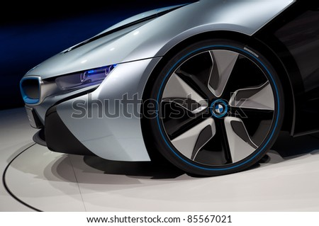 FRANKFURT - SEP 25:  BMW Concept car i8 at the 64th Internationale Automobil Ausstellung (IAA) on September 25, 2011 in Frankfurt, Germany.