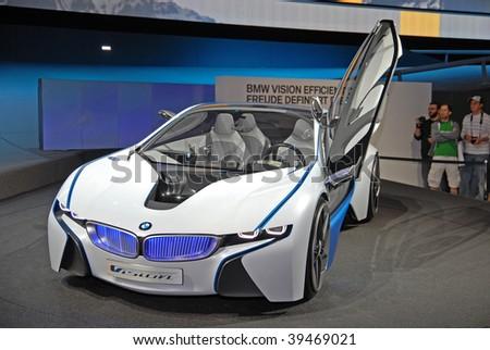 FRANKFURT - SEP 20: BMW Concept Car Vision Efficient Dynamics on 63rd IAA (Internationale Automobil Ausstellung) on September 20