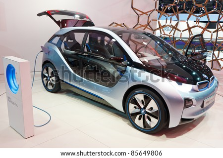 FRANKFURT - SEP 24: BMW i3 Concept car shown at the 64th IAA Motor Show (Internationale Automobil-Ausstellung) in Frankfurt, Germany, on September 24, 2011.