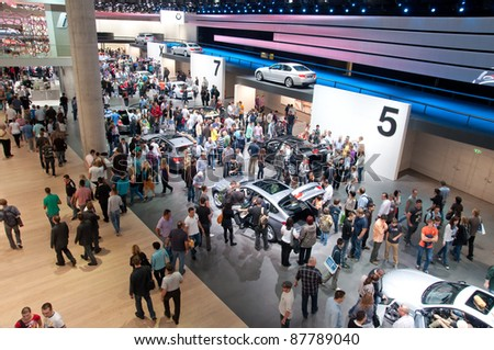 FRANKFURT - SEP 25:General view of the 64th Internationale Automobil Ausstellung (IAA) on September 25, 2011 in Frankfurt, Germany.