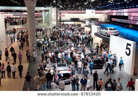 FRANKFURT - SEP 25:General view of the 64th Internationale Automobil Ausstellung (IAA) on September 25, 2011 in Frankfurt, Germany.
