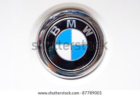 FRANKFURT - SEP 25: Logo on the new BMW M1 At The 64th Internationale Automobil Ausstellung (IAA) on September 25, 2011 in Frankfurt, Germany.